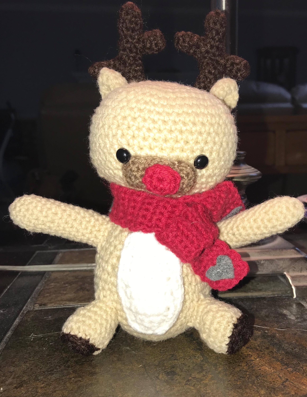 Amigurumi Tobi Christmas Deer in Hat Free Crochet Pattern ... | 3000x2321
